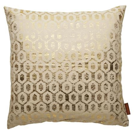 Cotton Cushion with Gold Pattern W50 x H50 cm