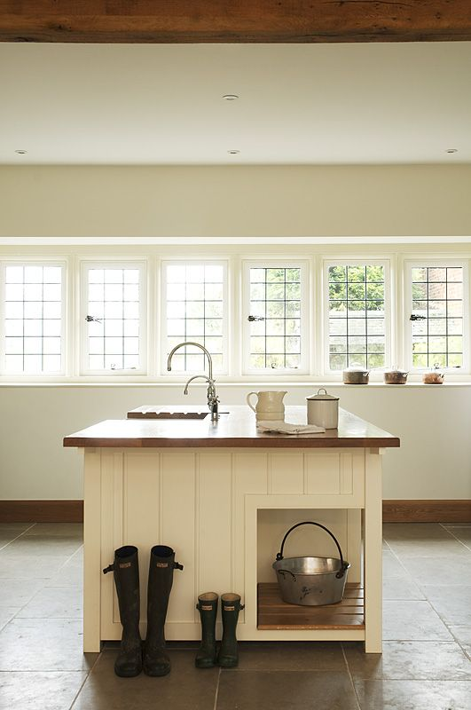 Open Shelf Island Bench Wood Beams And Country Sink: 1000+ Images About DeVOL Kitchens On Pinterest