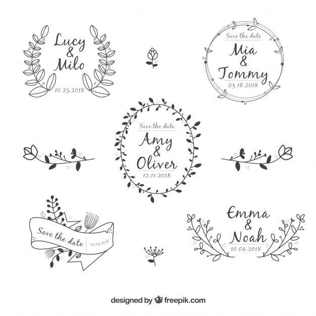 Download Elegant Floral Wedding Ornament Collection For Free In 2020 Wedding Ornament Floral Wedding Lettering