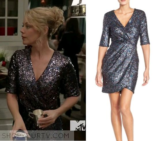 Faking It: Season 3 Episode 9 Farah's Sequin Wrap Dress Check more at http://www.shopyourtv.com/2016/05/faking-it-season-3-episode-9-farahs-sequin-wrap-dress/