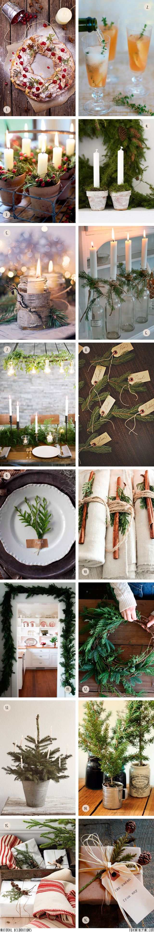 Decorating with nature in the home for the holidays   //   FOXINTHEPINE.COM