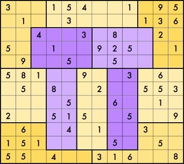 """In honor of Pi Day, Brainfreeze Puzzles (""""we turn coffee into puzzles"""") created a Pi Day Sudoku on a 12×12 grid. The rules are a little different from standard Sudoku, in part because the blocks ar..."""