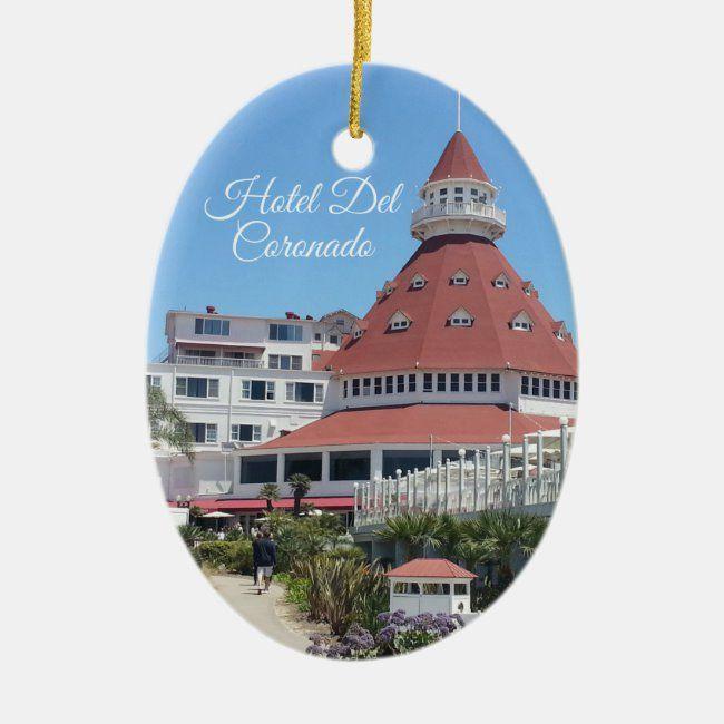 Hotel Del Coronado Oval Ornament | Zazzle.in 2020 | Hotel del
