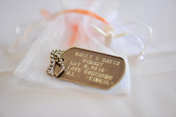 I love this idea.. dog tags as favors!