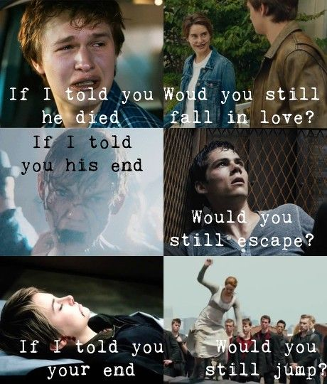 NO I️ WOULD NOT ESCAPE -R>>> The Newt one tho..... ima cry now...........
