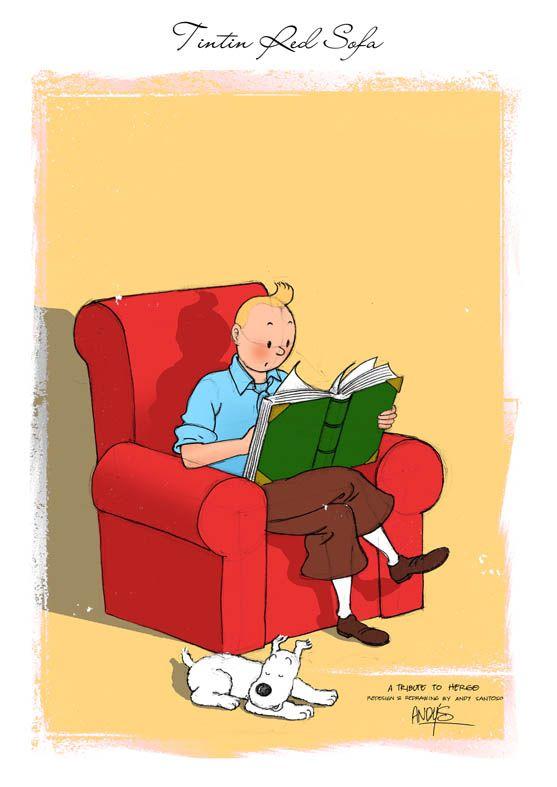 Tintin red sofa - Andy Santoso