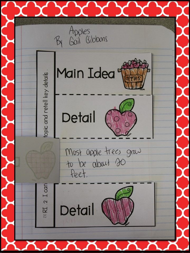 Main Idea & Details - APPLES