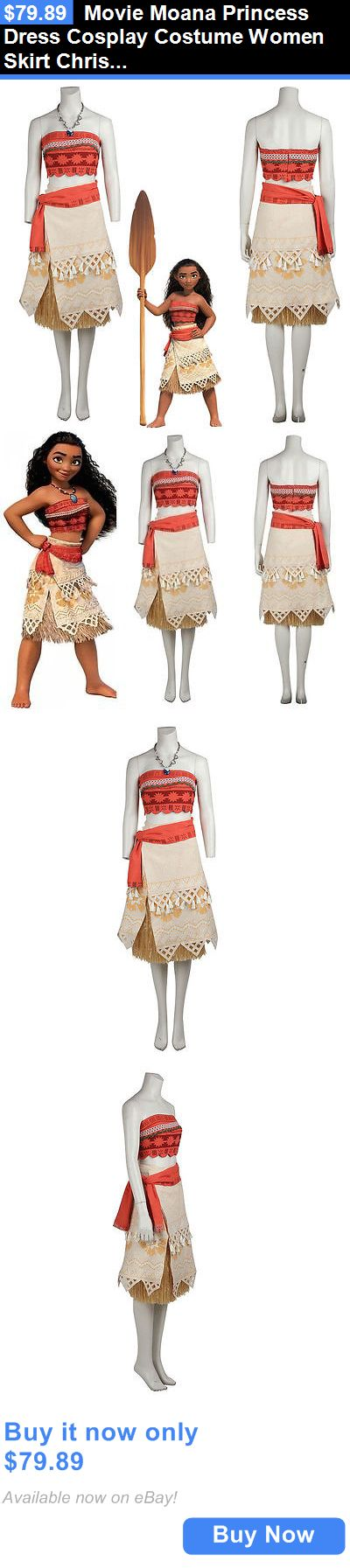Halloween Costumes Women: Movie Moana Princess Dress Cosplay Costume Women Skirt Christmas Party Dress BUY IT NOW ONLY: $79.89