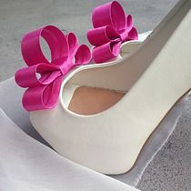 Kokardy 3D Fuchsia Extravaganza- klipsy do butów, buty
