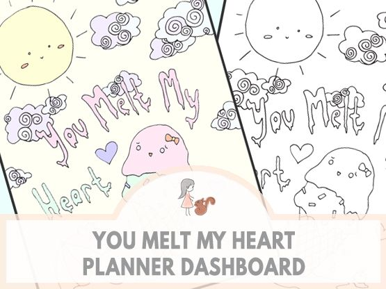 You Melt My Heart Planner Dashboard | www.sweetestchelle.com