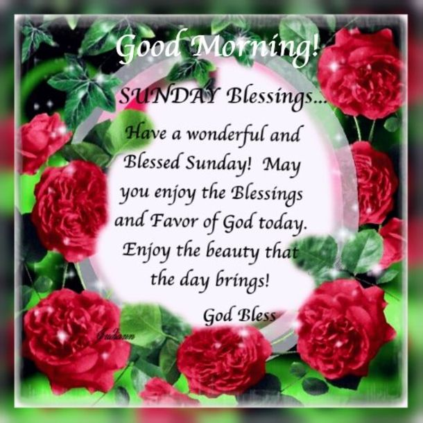 Good Morning Sunday Blessings Images
