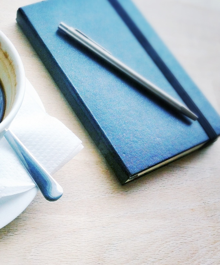 The black notebook. Moleskin.