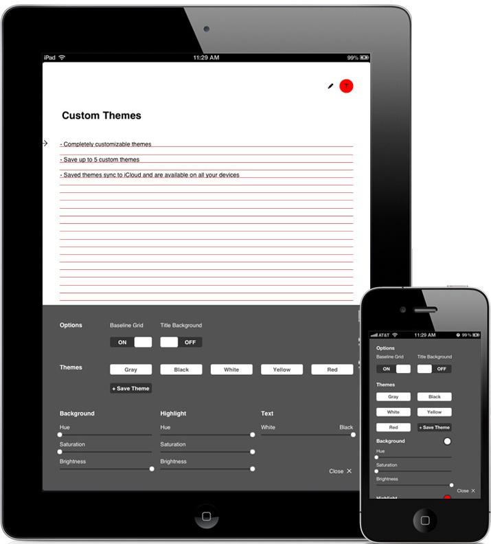 HelvetiNote™ - an iCloud synchronized note taking application - http://www.helvetinote.com | Designer: Berger & Fohr - http://www.bergerfohr.com