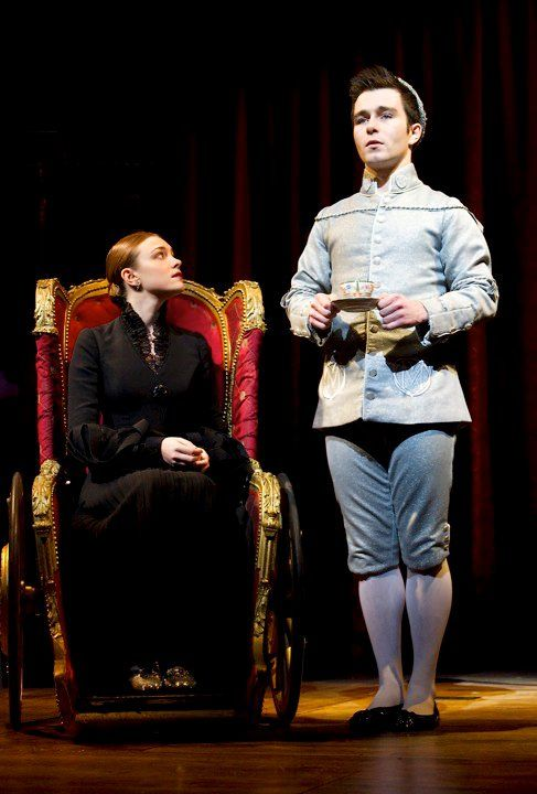 Cassandra Compton (Nessarose) and George Ure (Boq) in the West End production.
