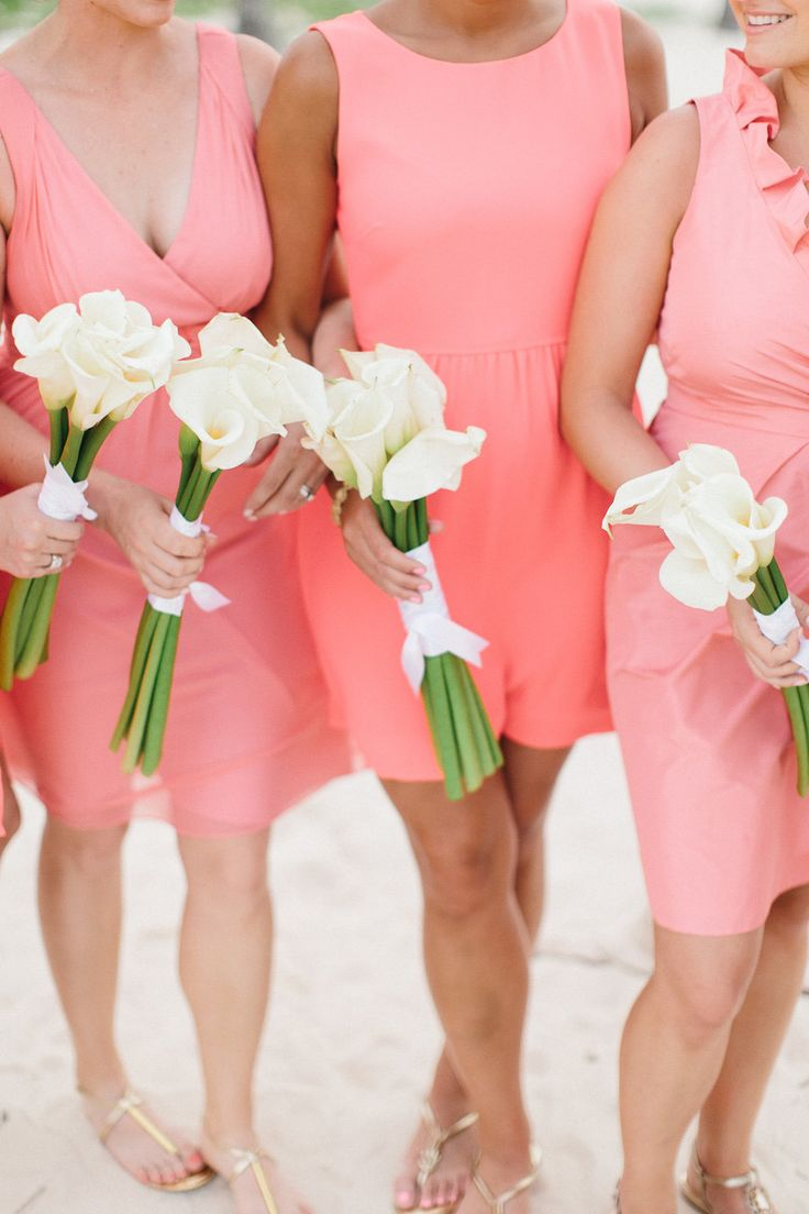 160 best tropical bridesmaids style images on pinterest mismatched bridesmaids in coral ombrellifo Gallery