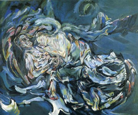Oskar Kokoschka,Hurricane. 1913. This painting was banned by the Nazi regime and exhibited at the Degenerate art exhibition in Munich in 1937.