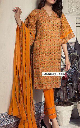 31b68e8f439 Orange Swiss Lawn Suit