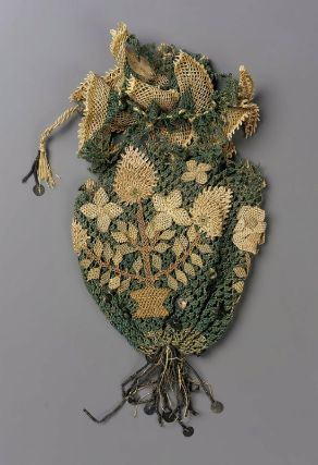 Purse probably English, 18th century DIMENSIONS MEDIUM OR TECHNIQUE Embroidery, needlework CLASSIFICATION Costumes ACCESSION NUMBER 38.1026