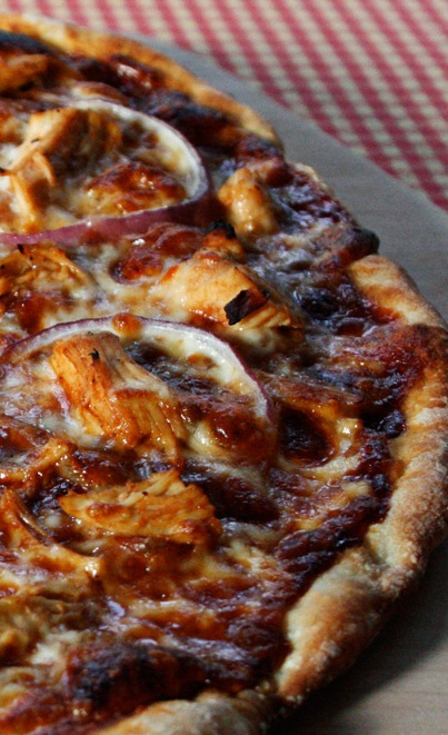 Barbeque Chicken Pizza recipe from JennyCanCook.com
