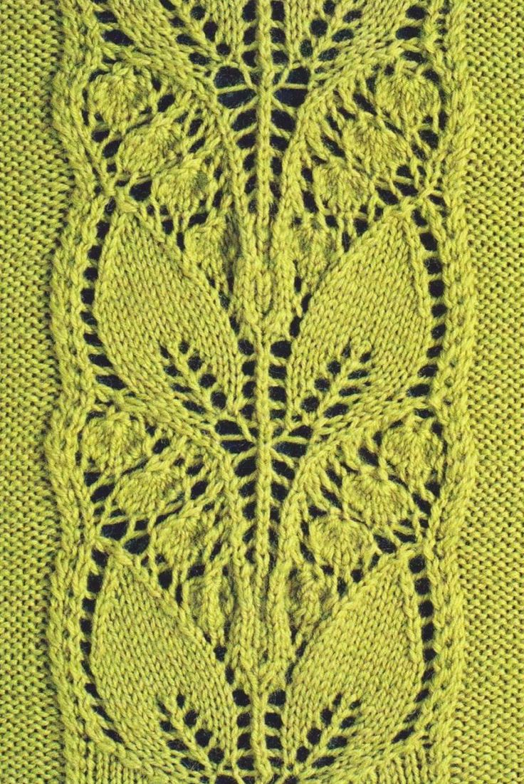 17 best images about knitting stitches on pinterest lace leafy knitted lace panel bankloansurffo Images