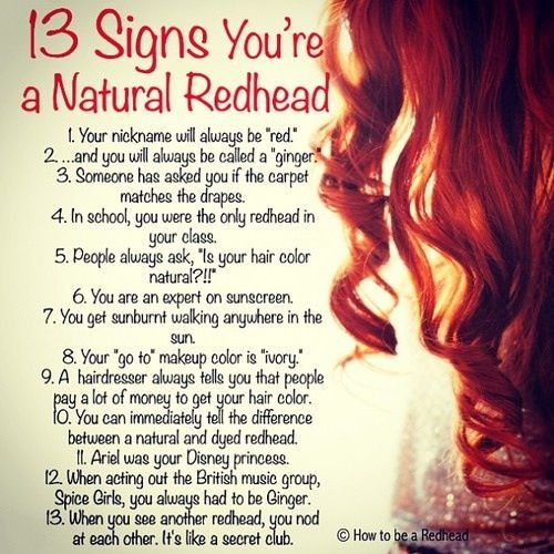 True... except #4. There were a couple gingers in my class.