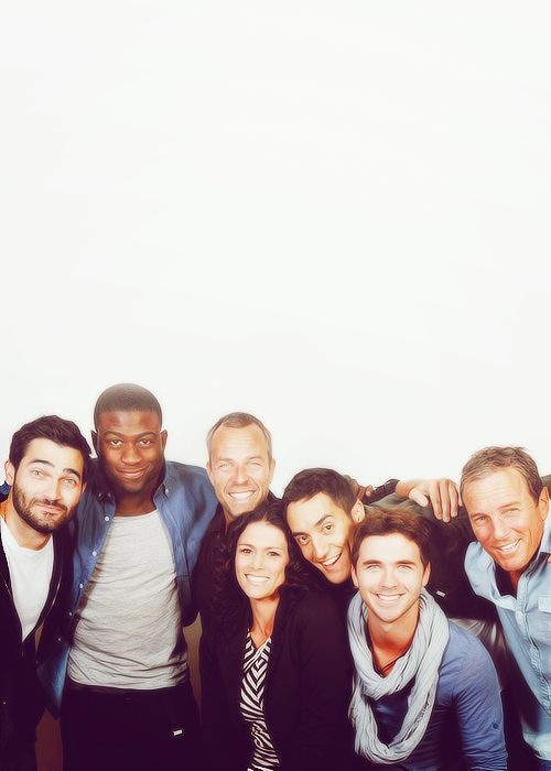 Tyler Hoechlin, Sinqua Walls, JR Bourne, Melissa Ponzio, Keahu Kahuanui, Stephen Lunsford and Linden Ashby behind the scenes of Teen Wolf.