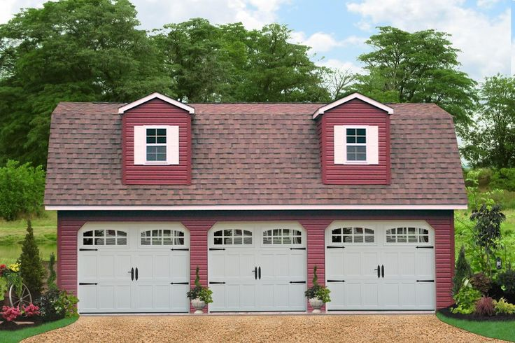 Buy Prefab Three Car Garages Direct From The Builders In PA These Come With Many Customizing Options See Prices