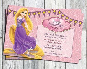 Invitación de enredados Rapunzel imprimible para por partyprintouts