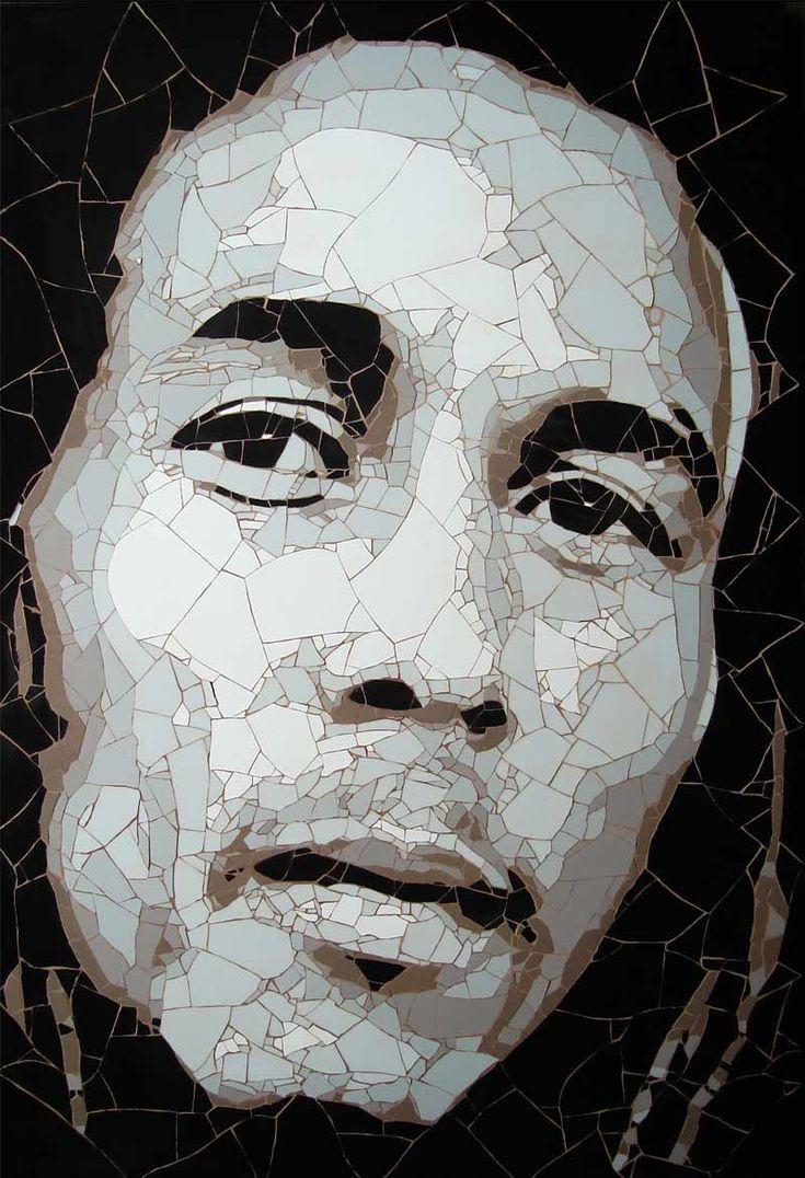 Bob Marley, ceramic tile fragments     Ed Chapman