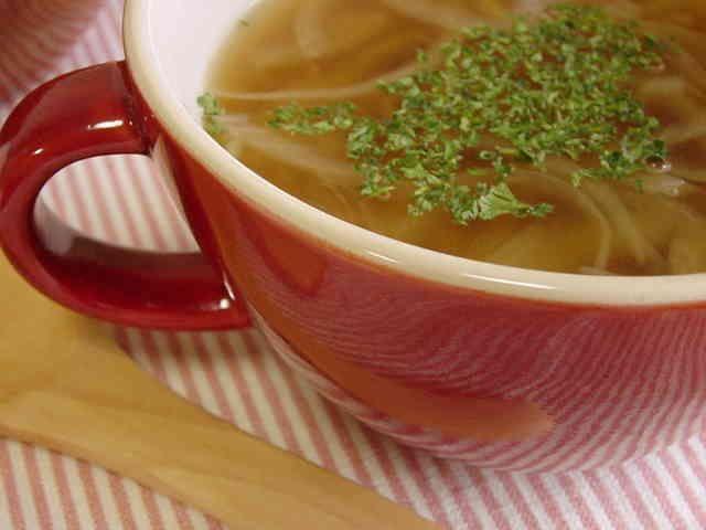 玉ねぎと生姜のスープ。の画像