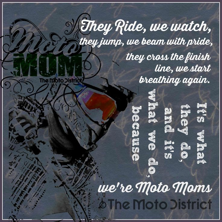 Copyrighted Motocross Inspiration For Moto Moms Original