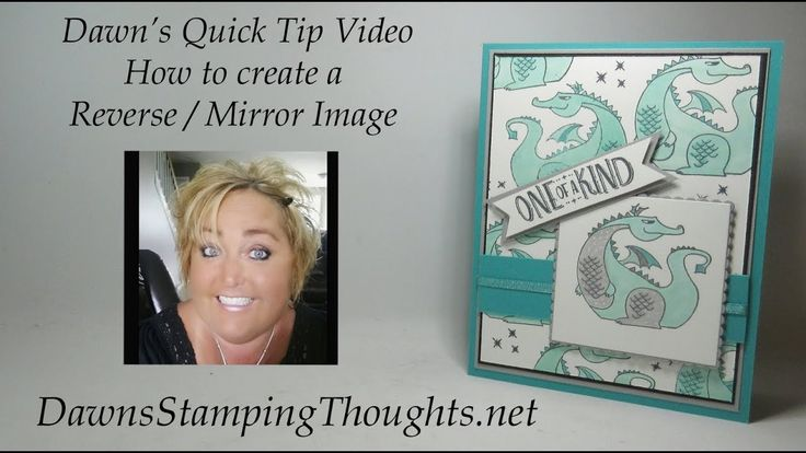 Dawns Quick Tip  How to Create a Reverse  Mirror image - YouTube