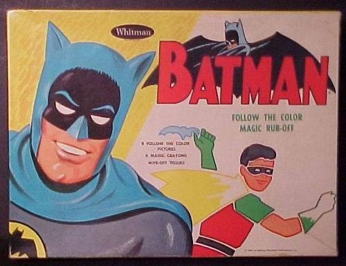 1966 Whitman Batman Follow The Color Magic Rub Off Pictures