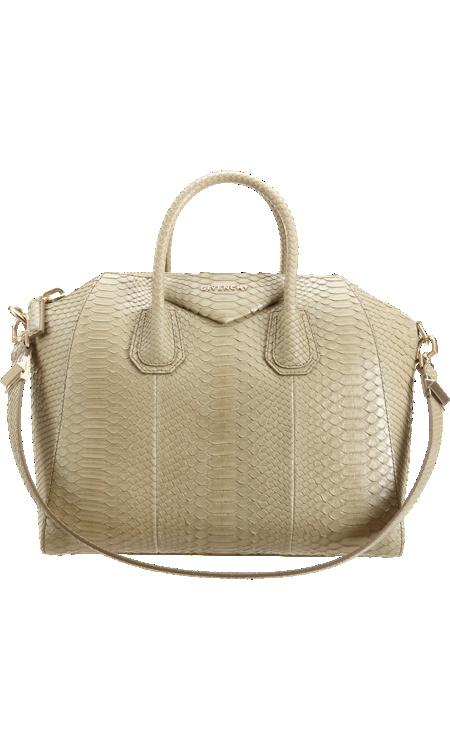 Givenchy Medium Antigona Python Bag #BNYSale