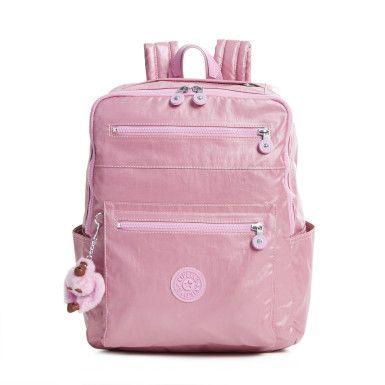 4e97ab1a1 Caity Metallic Backpack - Metallic Pink Plum | Kipling | Bolsos kipling,  Mochilas escolares e Bolsos