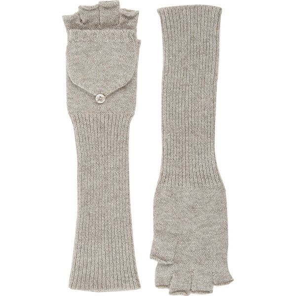 Barneys New York Fingerless Convertible Mittens (675 BRL) ❤ liked on Polyvore featuring accessories, gloves, nude, mitten gloves, convertible mittens, convertible fingerless gloves, fingerless gloves and convertible gloves