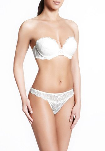 Emotion Strapless Bra & Thong In Pearl By Implicite