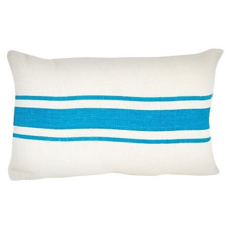 Striped Design Jute Throw Pillow : Target