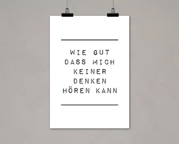"Digitaldruck mit Typo ""Wie gut"" / artprint, typo poster by Einsaushundert via DaWanda.com"