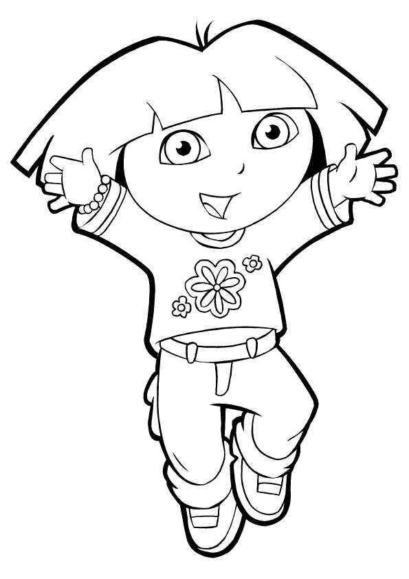 use dora the explorers printable coloring pages to teach your kids to learn about color the use of coloring pencils will also be an advantage to make your - Printable Coloring Pages Dora