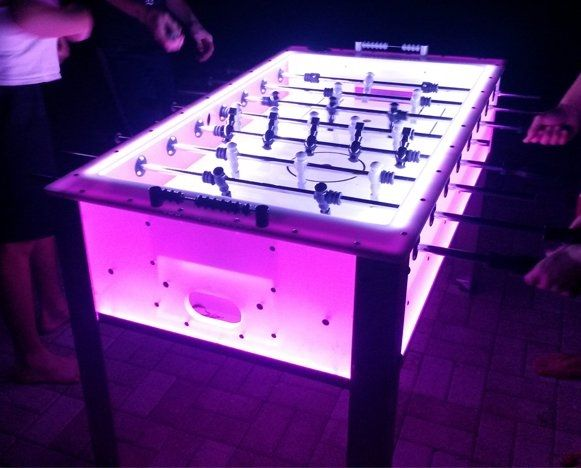 led glow in the dark foosball table snowglobe pinterest dark glow and. Black Bedroom Furniture Sets. Home Design Ideas