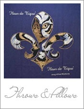 Fleur De Lis Game Pillow · Purple ThrowsOffice DecorFrench ...