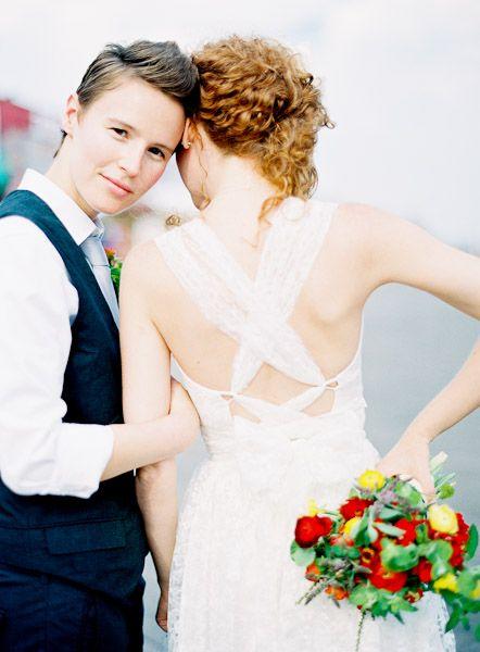 Beautiful expression, dress, bouquet...love!