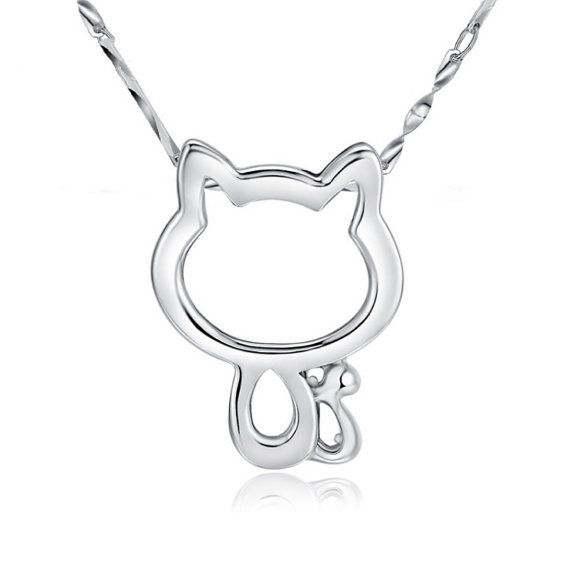 Sterling Silver Pendant Style 15 Cute Cat by ATHiNGZ on Etsy, $7.99