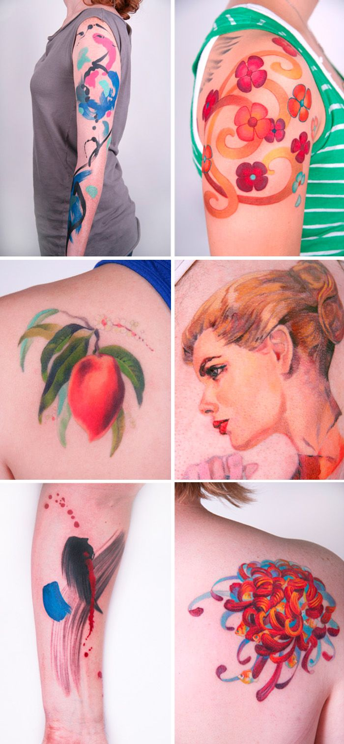 Amanda Wachob = Genius. I wonder how these tattoos will age - but i think they are still worth it. Apparently wait time for her is 6 months and now I get why. Would love to see what she would do with the idea.