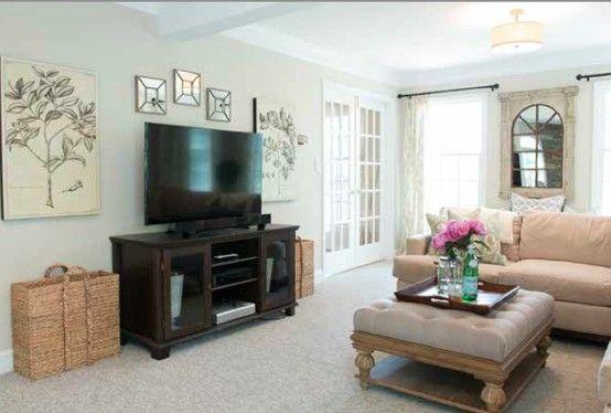 My living room. Paint is Elmira White BM. Before | My