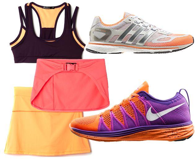 Top (R$ 29,99), saia (R$ 49,99) e cobre-bumbum (R$ 29,99) da Marisa, tênis Adidas adiZero Boost W (R$ 499,90) e o Flyknit Lunar2 da Nike (R$ 699,90), que acaba de chegar no Brasil