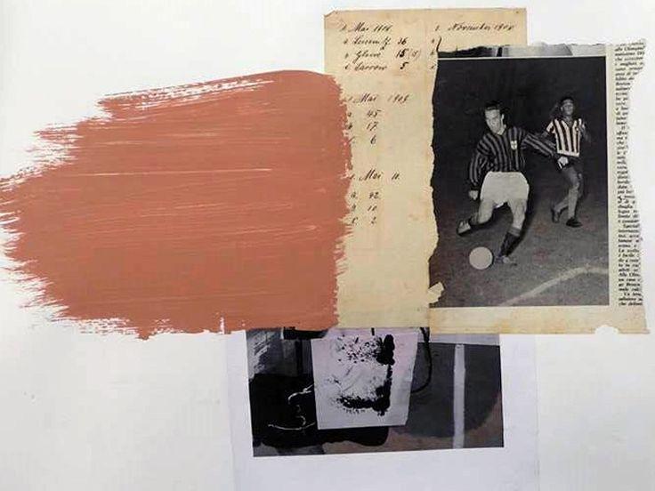 "Untitled, mixed media, 35"" x 45"", 2016"
