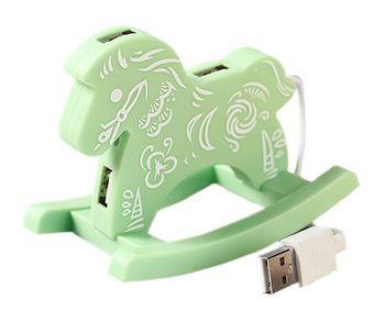 Creative Green Cloud USB HUB High-Speed USB 2.0 4-Port USB Hub with 10cm cable