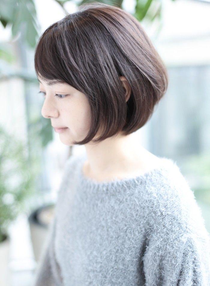 30、40代似合う髪型◎丸顔◎ボブ☆